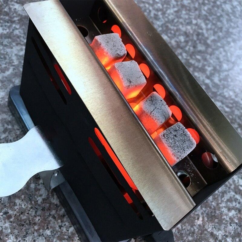 Портативная мини-печь на древесном угле 800 Вт, электрическая горелка, плита, печь для домашней кухни