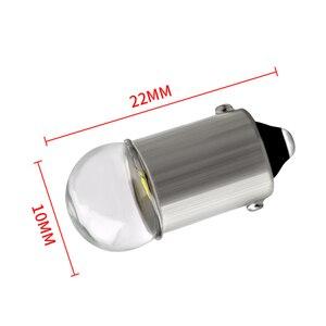 Image 4 - 10 個BA9S led電球 3030 ガラスT4W高輝度白色 12 12v読書ドームドア計器ライトナンバープレートライトランプ電球