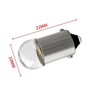 Image 4 - 10pcs BA9S LED Bulb 3030 Glass T4W High Bright White 12V Reading Dome Door Instrument Light License Plate Lights Lamp Bulb