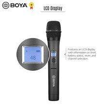 Boya BY-WHM8 pro 48-channel uhf microfone de mão sem fio microfone para entrevista reunião gravação de áudio com boya BY-WM8 pro