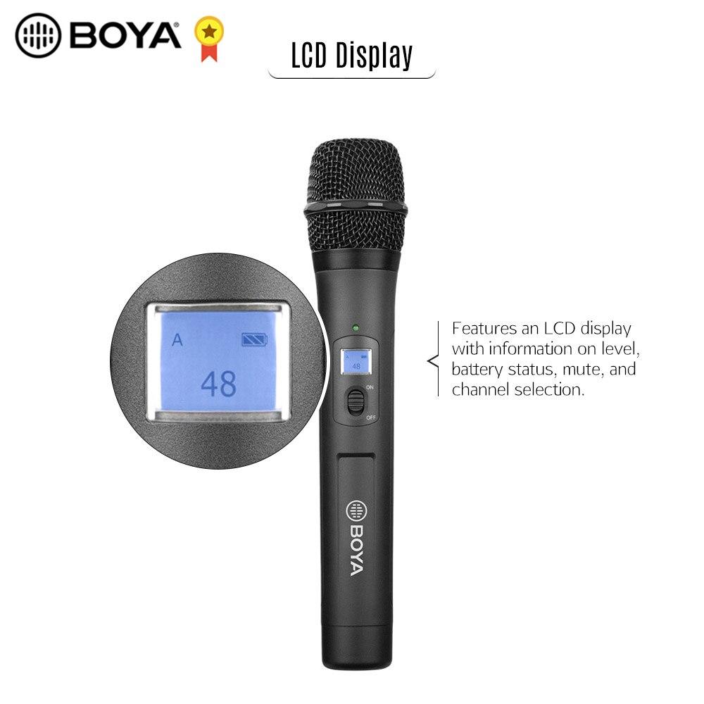 BOYA BY-WHM8 Pro micro de poche sans fil UHF 48 canaux pour enregistrement Audio de réunion d'entrevue avec BOYA BY-WM8 Pro