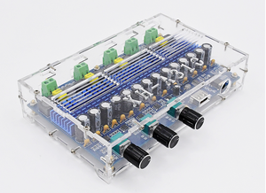 Image 5 - Bluetooth 5.0 TPA3116D2 4 Channel 50Wx2+100Wx2 Digital power amplifier board Stereo Dual Bass Subwoofer AMP home theater XH A310