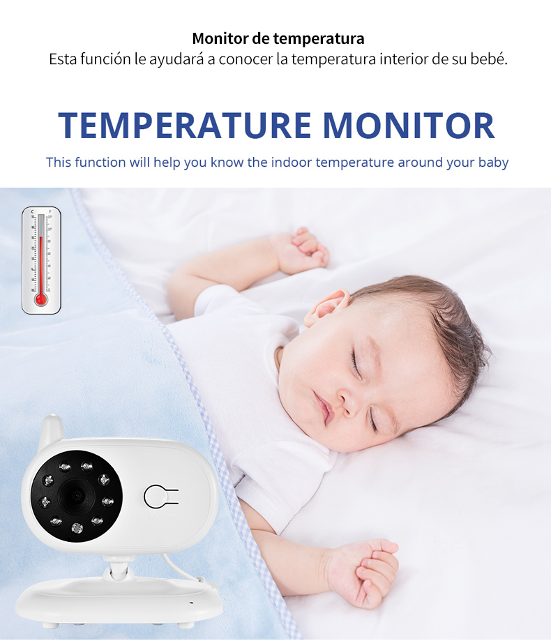 3 inch Baby Monitor With Security Night Vision Camera And a Voice Call For child Security 10