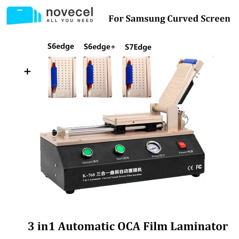 La Plus nouvelle plastifieuse automatique de Film d'oca 3 en 1 pour le bord S6 S7 Plus la Machine de stratification incurvée d'écran tactile