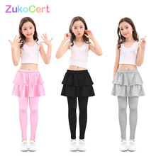 Pants for girls leggings with skirt cotton kids culottes render pants Flower Floral Printed Elastic pencil pants Toddler trouser