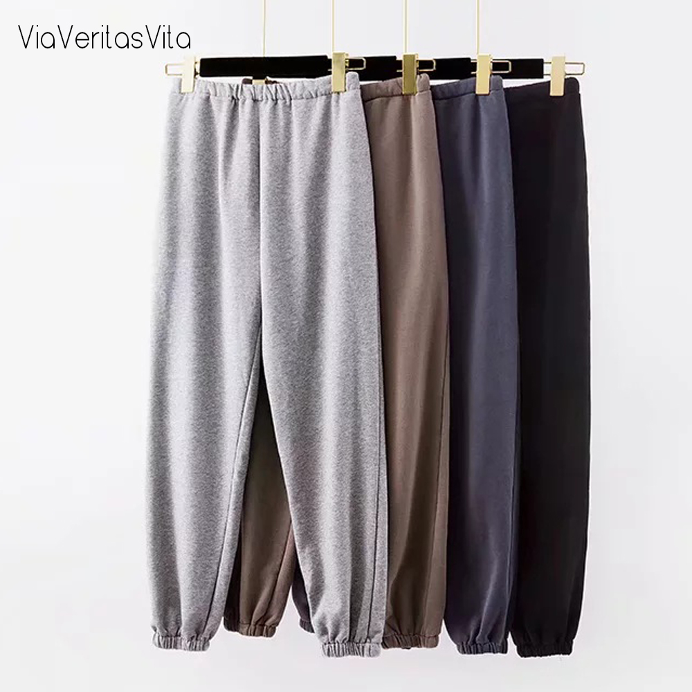 Fashion Womens Jogging Cargo Pants Trousers High Elastic Wasit Sexy Loose Pants Joggers Gray Sweatpants Capris Winter Clothes