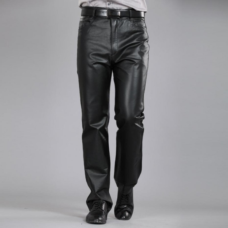 Casual Pants Men Genuine Leather