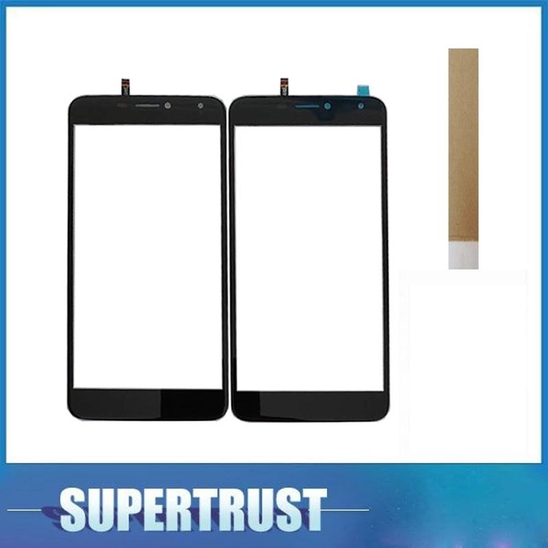For BQ Mobile BQS-5520 Mercury BQS 5520 BQS5520 Touch Screen Digitizer Front Glass Lens Sensor Black Color With Tape