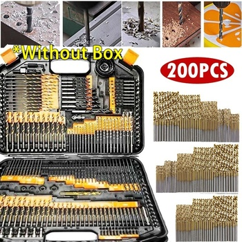 200Pcs 1/1.5/2.0/2.5/3mm  Round Handle HSS Twist Drill Woodworking Drill Bit Set Tool for Woodworking And Aluminum HSS Drill Bit free delivery 0 8mm 3mm straight shank twist drill power tool metal drills woodworking tools drill bit set aluminum hss drill