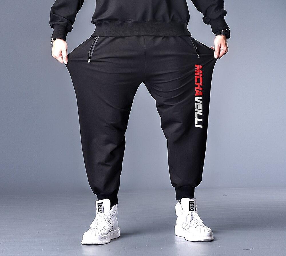 7XL 6XL XXXXL Plus Size Men Spring Print Streetwear 2020 Harem Pants Mens Collage Casual Hip Hop Sweatpants Male Trousers