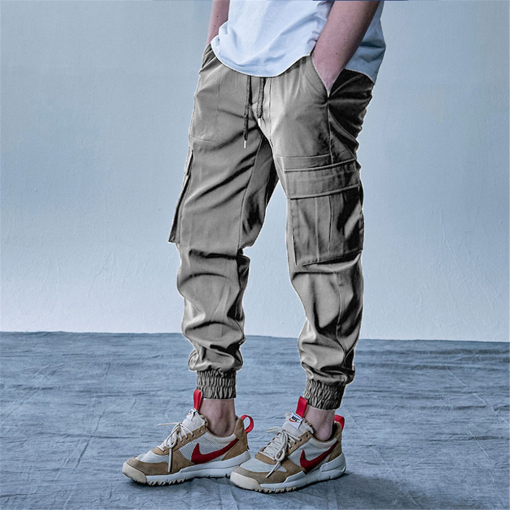 New Style Men's Cargo Pants Running Training Loose Long Pants Male Casual Jogger Sweatpants High Quality Solid Brand Trousers 3