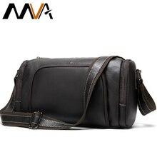 MVA Men's Shoulder Bag Genuine Leather Crossbody Ba