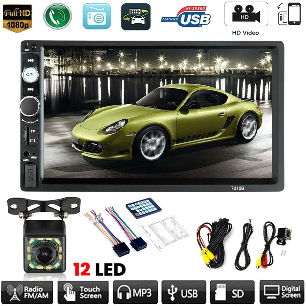 7inch Double Digital 2 DIN Car MP5 Player Bluetooth USB Touch Screen Stereo Radio + Camera Multimedia Player Rear View Camera|Vehicle GPS| |  - title=