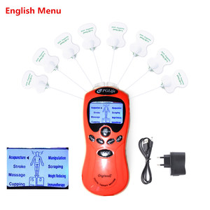 Image 2 - English Or Russian Dual Channels Physical Therapy Body Massage TENS Unit E stim Electronic Pulse Muscle Stimulator Pain Relief