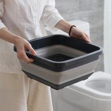 Portable Folding Washbasin Retractable Wash Face Basin Thickened Kitchen Washing Basin Travel Outdoor Cleaning Supplies portable travel outdoor folding basin wash feet bag