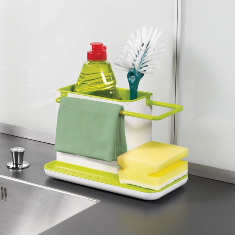 1PC Sponge Kitchen Box Draining Rack Dish Self Draining Sink Storage Rack Kitchen Organizer Stands Utensils Towl Rack
