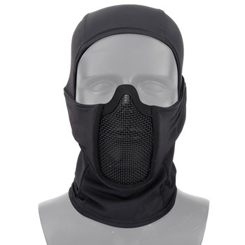 Tactical Airsoft Paintball Full Face Steel Mesh Mask polyester Balaclava Hunting CS Mask Cycling Protective Helmet Liner Cap 1