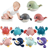 Baby Bath Toys Animal Cute Cartoon Tortoise Crab Classic Baby Water Toy Infant Swim Chain Clockwork Toy For Kid 2020 Newest