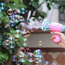 3IN1 Bubble Blower Fan Machine Toy Kids Soap Water Bubble Gu