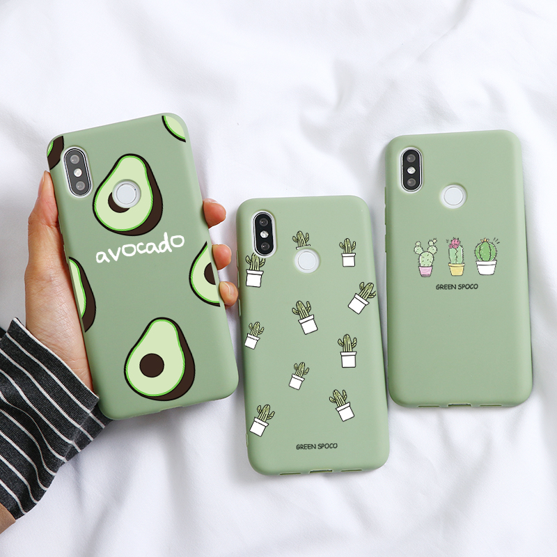 Cactus Avocado Soft TPU Case For Xiaomi Redmi Mi 9 A3 Note 8 8T T 4X 9 Pro 5 Plus 6 6A 7 7A 8 8A K20 Pro A1 A2 5X 6X Case Fundas(China)