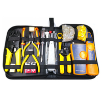 23Pcs Profession J45 LAN Cable Tester Computer Network Repair Tool Kit Wire Cutter Screwdriver Pliers Crimping Maintenance Tool