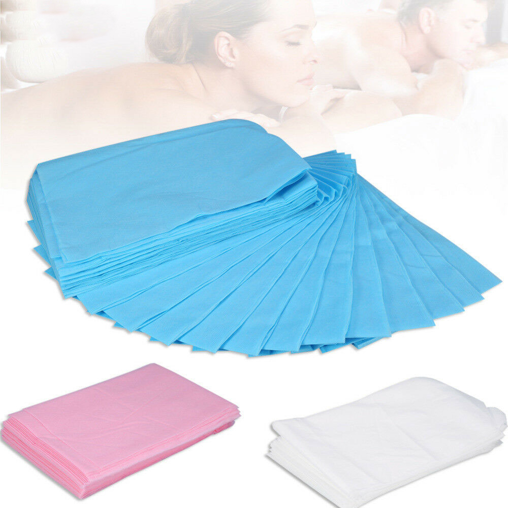 50pcs  Beauty Salon Disposable Bedsheet Massage Waterproof Bed Sheets Massage Bed Table Cover Sheet 80 X 180cm Pink Blue White