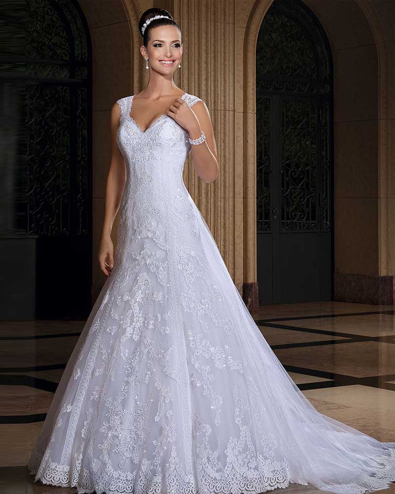 Vestido De Noiva Sereia Lace Wedding Dresses Luxury Country Style Wedding Desses Vestido De Casamento Vestido De Noiva Vintage