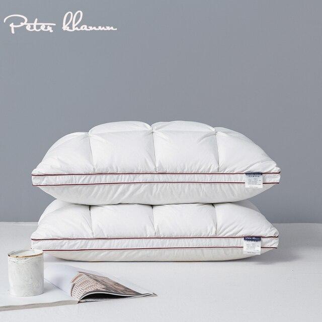 Peter Khanun 48*74cm marque Design 3D pain blanc canard/duvet doie plumes oreillers pour dormir lit oreillers Textile à la maison 014
