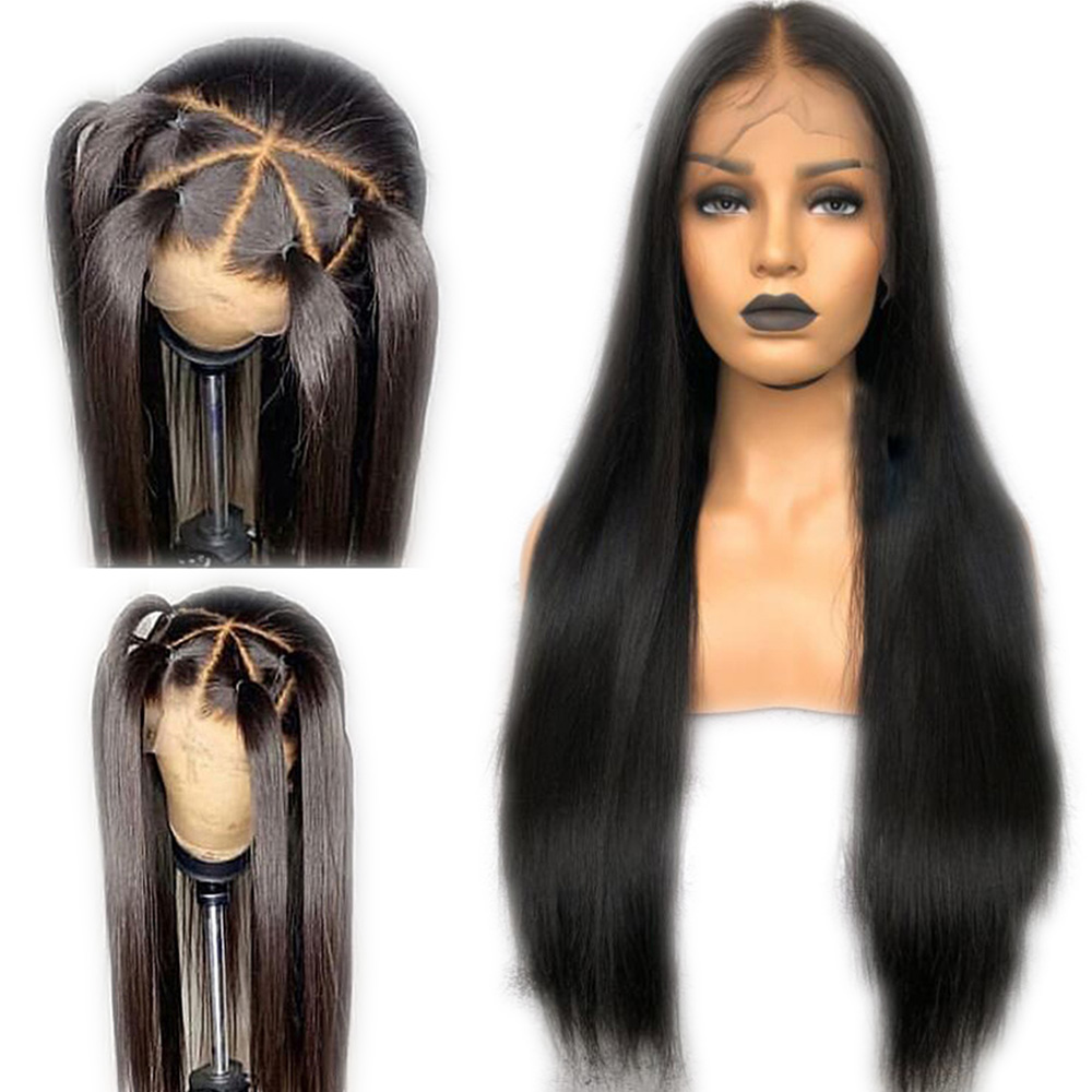 Eversilky Deep Part Full Lace Wigs With Baby Hair Pre Plucked Remy Long Straight Human Hair Wigs Brazilian Natural Hairline