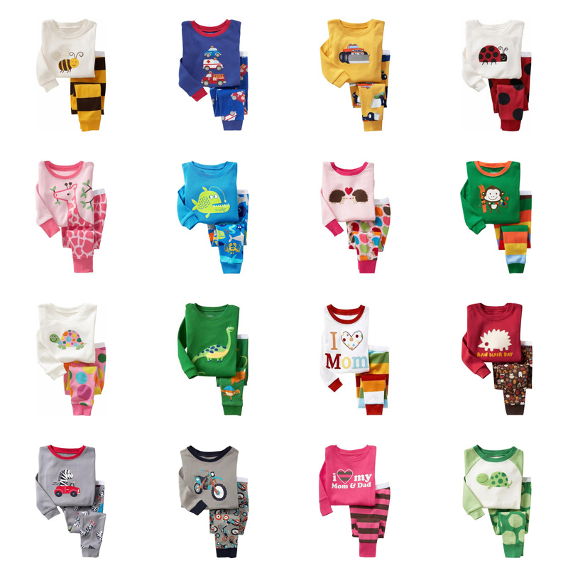 Pyjamas Baby Nightwear Clothing Children Sleepwear Animal Long-Sleeve Girls Toddler Cotton