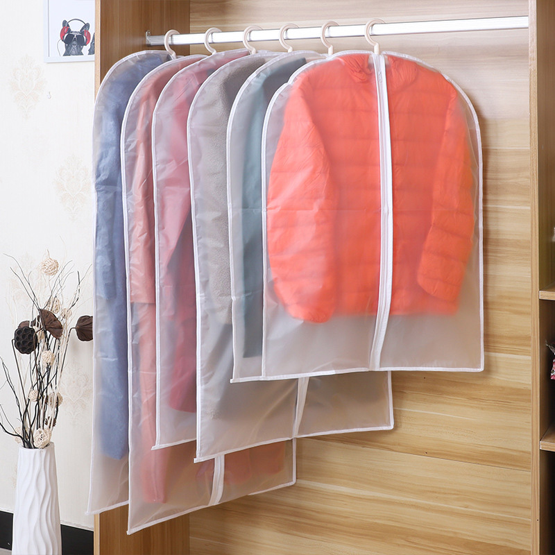 Clothes Hanging Garment Dress Clothes Suit Coat Dust Cover Home Storage Bag Pouch Wardrobe Hanging Clothing Case Organizer