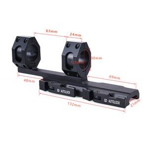 Image 2 - QD Auto Schnell Release Zielfernrohr Montieren Ringe 30mm/25mm Cantilever für 20mm Picatinny Schiene Optik