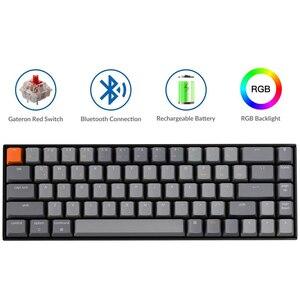 Keychron K6 P 68 ключ Беспроводная Bluetooth USB компьютерная механическая клавиатура, RGB переключатель с подсветкой Gateron для Mac Windows