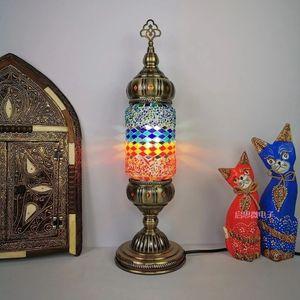 Image 2 - Nuovo stile Turco mosaico Lampada da tavolo vintage art deco Handcrafted lamparas de mesa di Vetro romantico letto lamparas con mosaicos