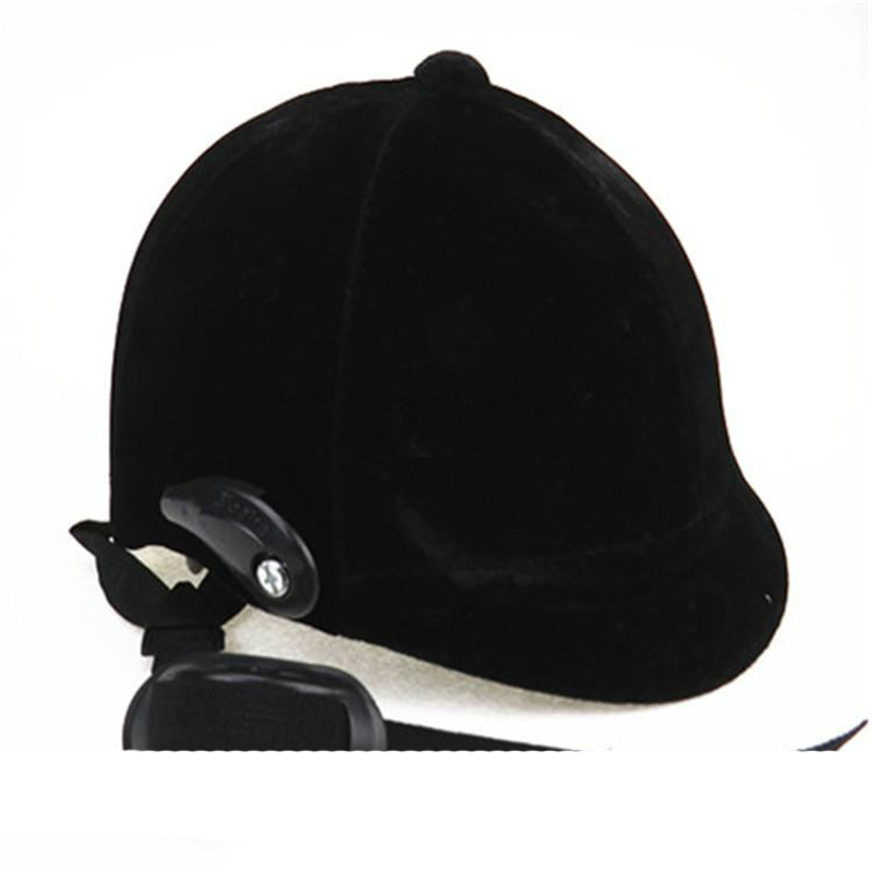 Horse Riding Helmet Equestrian Helmet Black Half-covered Horse Riding Safety Cap Helmet Horse Equipment 54-60cm Adjustable