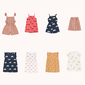 2020 latest summer brand girl dress princess dress girl fashion shoulder dress  girls coat  Girls' trousers
