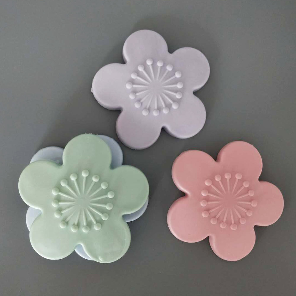 Practical Silicone Cherry Blossom Shape Wall Protector Door Handle Crash Pad Furniture Accessories