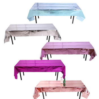 Waterproof Party Glitter Disposable Table Cloth Disposables & Single-Use Table Cloths