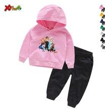цена на Baby Clothing Sets Children 2 3 4 5 6 7 8 Years Birthday Suit Boys Tracksuits Kids Brand Sport Suits Hoodies Top +Pants 2pcs Set