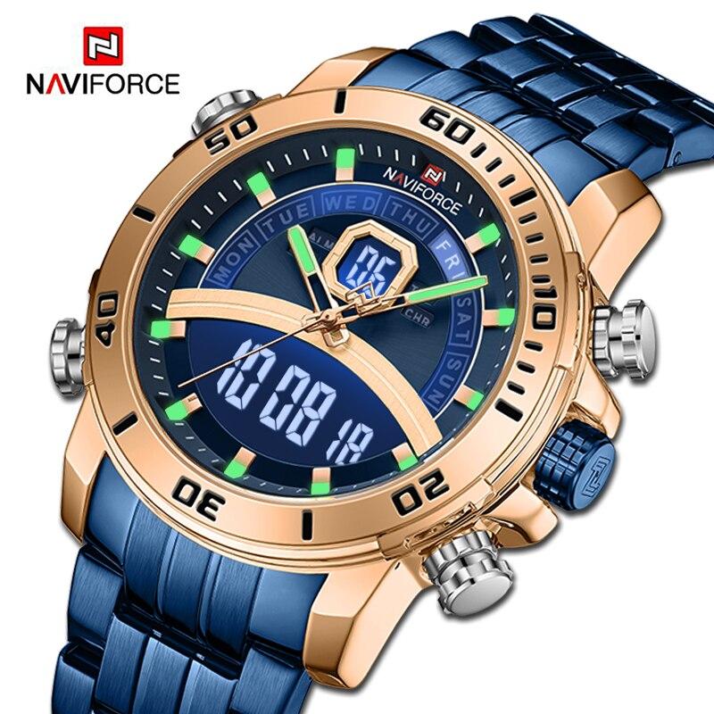 Luxury Brand NAVIFORCE Men Sports Watches Military Digital Chronograph Quartz Wristwatch Waterproof Clock Male Relogio Masculino