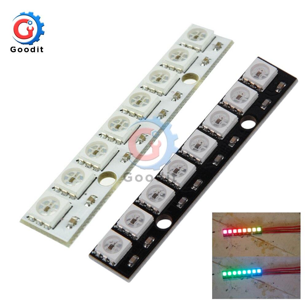 8-bitowy kanał WS2812 5050 RGB 8 LED Light wbudowany w pełnym kolorze płyta rozwojowa płyta sterownicza do Arduino 8 Channel