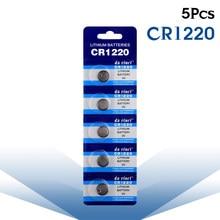 5 шт., батарейки CR1220 DL1220 BR1220 LM1220, литиевая батарея 3 в CR 1220 для часов, электронных игрушек, пультов дистанционного управления, новинка