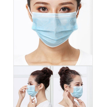 Face Mouth Disposable Anti dust Mask 3 Protect Layers Filter Earloop Non Woven Mouth Dustproof Mask image