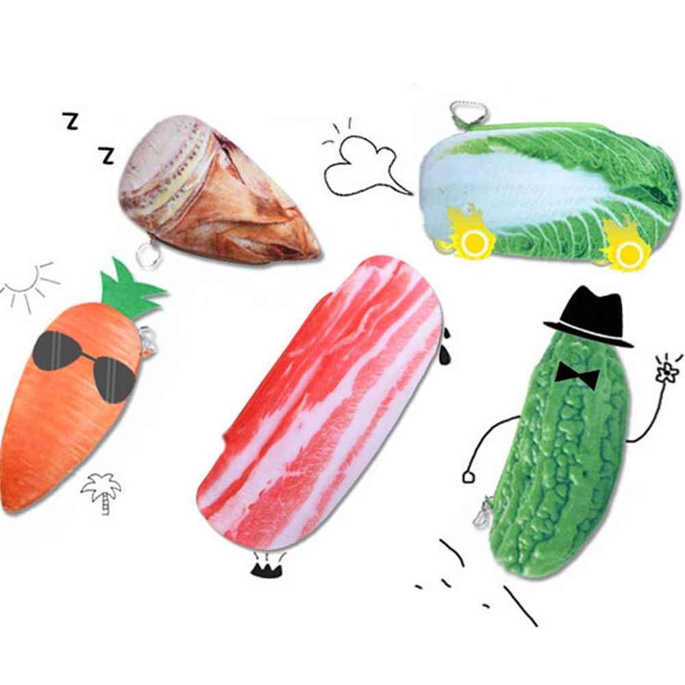 Śmieszne kreatywne gospodarstwo owoce warzywa ryby piórnik pojemne pudełko typu Organizer dla dzieci szkolne piórnik prezent