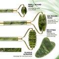 2 stücke Jade Roller Massager für Gesicht Walze Gua Sha Jade Stein Gesicht Massager Dünne Facelift Anti Falten Gesichts schönheit Hautpflege T