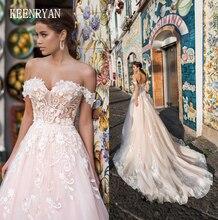 Nova chegada sexy querida sem costas rendas vestido de baile vestido de casamento 2020 fora do ombro elegante vestidos de noiva princesa vestidos de casamento