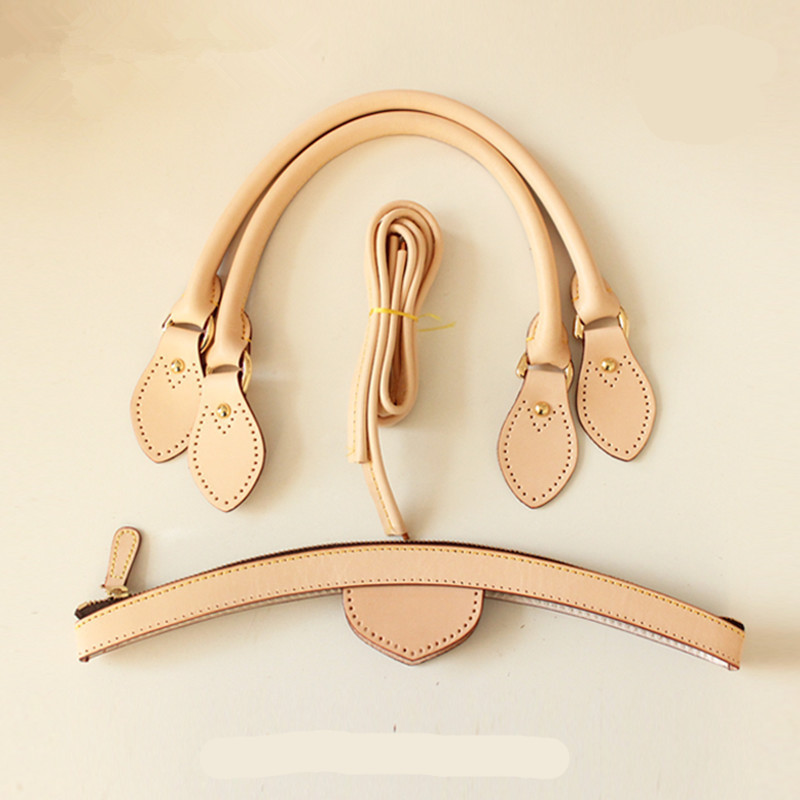 Bag Handle 100% Genuine Leather Luxury Brand Handbag Diy Handle Sets Really Oxidation Cow Leather Accessory Bags Parts  New