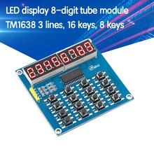 Pantalla LED TM1638, módulo de tubo Digital de 8 Bits, 3 cables, 16 teclas, escaneo de teclado de 8 Bits y Módulo De Pantalla LED de llaves para Kit de Arduino DIY