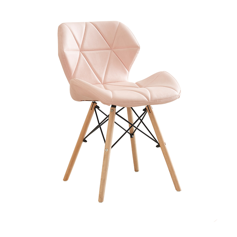 Nordic Ins Dining Chair Soft Bag Modern Minimalist Home Makeup Stool Pink White Leather Chairs For Sale Light Extravagant