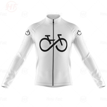 Blanco nuevo Ciclismo Jersey Pro equipo primavera otoño manga larga MTB bicicleta Ciclismo Ropa Ciclismo Maillot camiseta Top